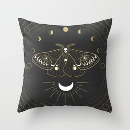 The Moon Moth Throw Pillow