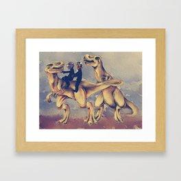 Daft Dinos Framed Art Print