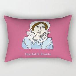 Charlotte Bronte - hand-drawn portrait Rectangular Pillow