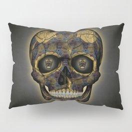 Skull Yellow   Tessellating Skulls Pattern   M. C. Escher Inspired Geometric Artwork by Tessellation Pillow Sham