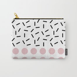 Black Sprinkles Pink Dots Carry-All Pouch