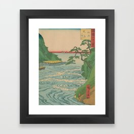 Sea. Ukiyoe Landscape Framed Art Print