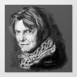 Grey Shades Of Bowie Canvas Print