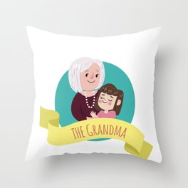 I love grandma shirt - Special person for children Throw Pillow