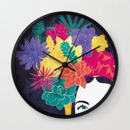 Succulent Eyes Wall Clock