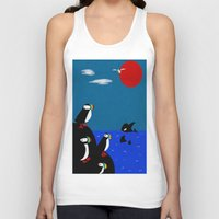 puffin Tank Tops featuring Puffin Rock by V.L. Durand