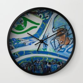 Fan Collage Wall Clock