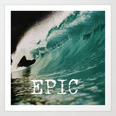 EPIC WAVE  Art Print