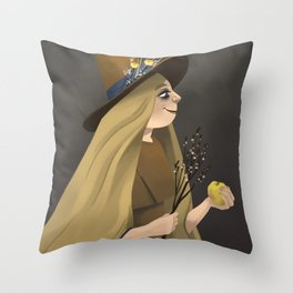 A Witchy Picture Day Throw Pillow
