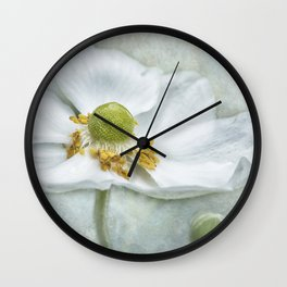 Anemone with Textured Background Wall Clock