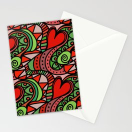 Seamless Love Pattern. Stationery Cards