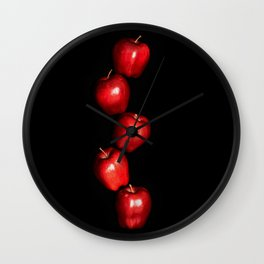 5 Apples - Meera Mary Thomas Design Wall Clock
