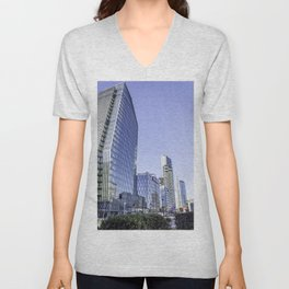 Skyscrapers in the center of Milan Unisex V-Neck