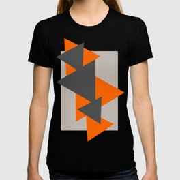 Orange and Grey Triangles T-shirt