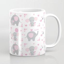 Pink Elephant Baby Girl Nursery Coffee Mug