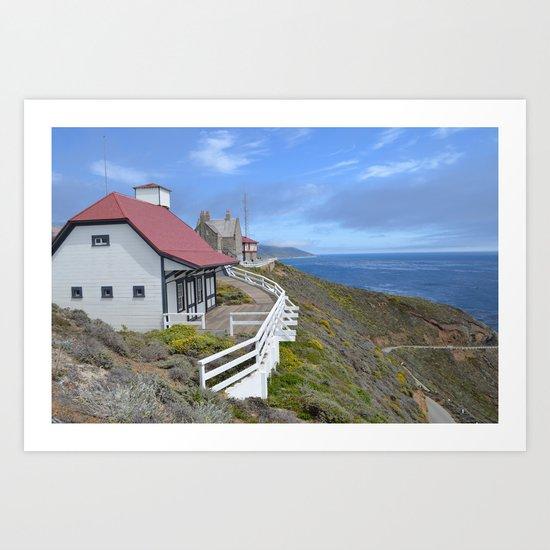 behind the lighthouse Art Print