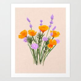 Lavender Bouquet Art Print