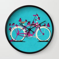 brompton Wall Clocks featuring Butterfly Bicycle by Wyatt Design
