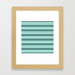 Mint Sampler Stipe 2 Framed Art Print