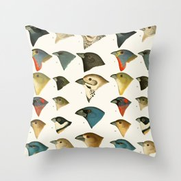North American Birds Throw Pillow