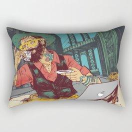 Hipster Cowboy Rectangular Pillow