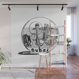 Dubai in a glass bowl . Dubai ( https://society6.com/vickonskey/collection ) Wall Mural