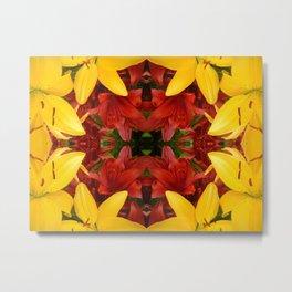 """A Gathering of Lilies"" Remix - 4 (2-1) [D4469~57] Metal Print"