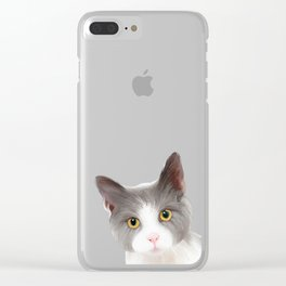 Cat with Yellow Eyes Clear iPhone Case