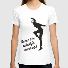 audrey hepburn - dance like nobody's watching  T-shirt
