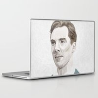cumberbatch Laptop & iPad Skins featuring Benedict Cumberbatch by Zaneta Antosik