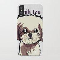 shih tzu iPhone & iPod Cases featuring Alice (Shih Tzu) by BinaryGod.com
