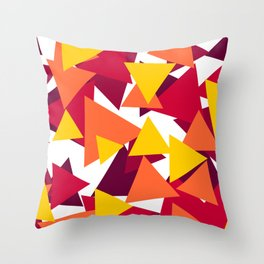 Bright & Warm Triangles Throw Pillow