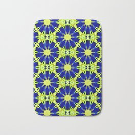 Blue Green vector abstract floral background Bath Mat
