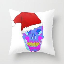 The Death Of Christmas - Santa's Skull Throw Pillow