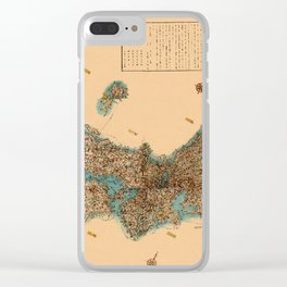 Map Of Japan 1850 Clear iPhone Case