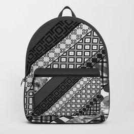 Black / white patchwork Backpack
