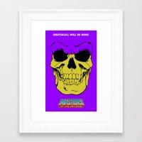 skeletor Framed Art Prints featuring Skeletor by Dukesman
