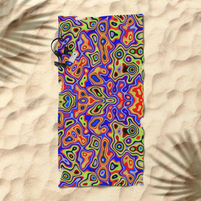 Cool colorful patterns abstract Beach Towel