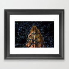 Christmas at Rockefeller Center Framed Art Print