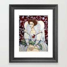Elizabeth, the Virgin Queen, Queen of Hearts Framed Art Print