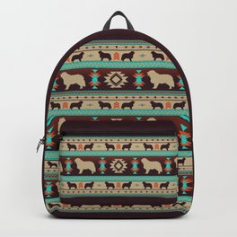 Boho dogs   Berner Sennenhund/Bernese mountain dog sunset Backpack