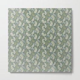 flower paisley Metal Print