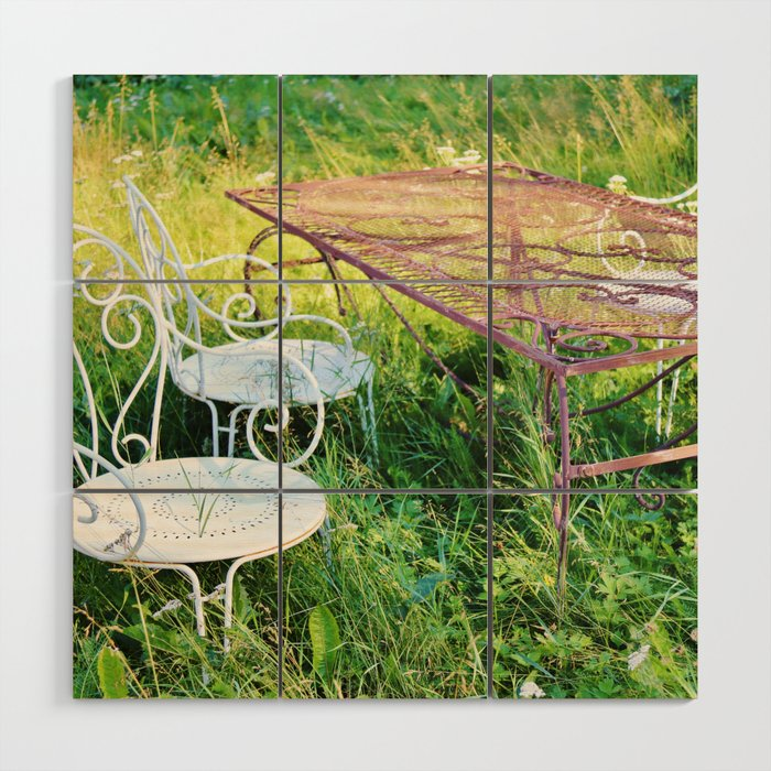 Wild garden Wood Wall Art