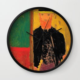 Self-portrait With Cane And Boater - Digital Remastered Edition Wall Clock