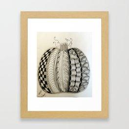 zentangle pumpkin Framed Art Print