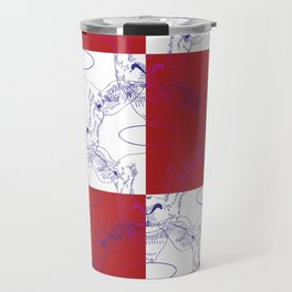 Heiliges Schaf, rote Wand Travel Mug