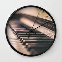 piano Wall Clocks featuring Piano by Juste Pixx Photography