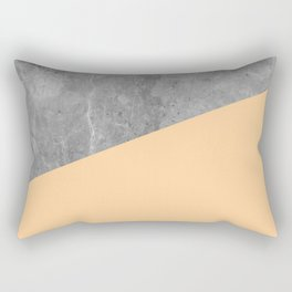 Geometry 101 Orange Sherbet Rectangular Pillow