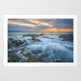 Sunrise at Dunmore Art Print