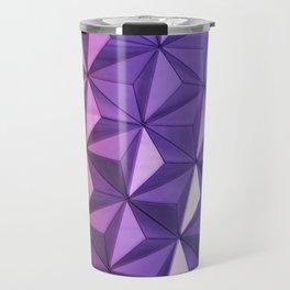 Purple & Pink Modern Art Travel Mug